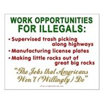 Jobs for Illegals Small Poster