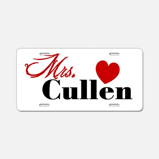 Mrs. Edward Cullen Aluminum License Plate