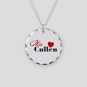 Mrs. Edward Cullen Necklace Circle Charm