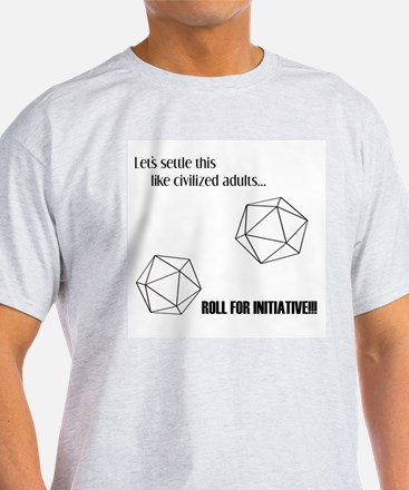 Roll for Initiative Ash Grey T-Shirt