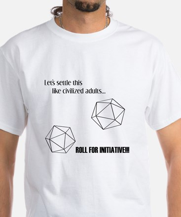 Roll for Initiative White T-Shirt
