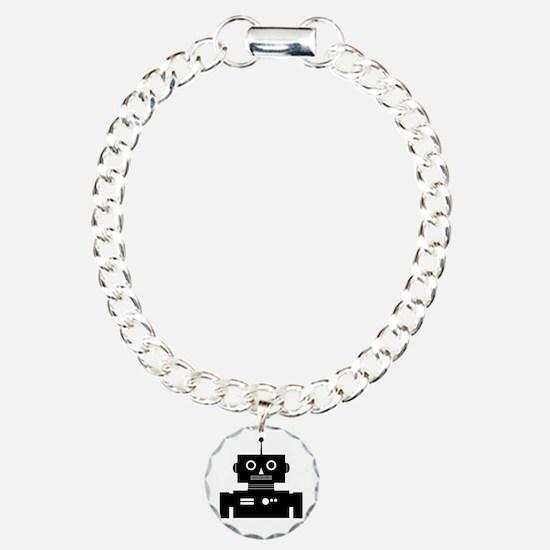 Retro Robot Shape Charm Bracelet, One Charm