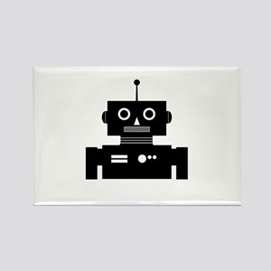 Retro Robot Shape Rectangle Magnet