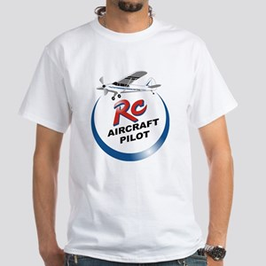 RC Aircraft Pilot White T-Shirt
