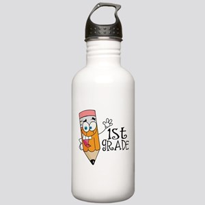Happy Pencil 1st Grade Stainless Water Bottle 1.0L