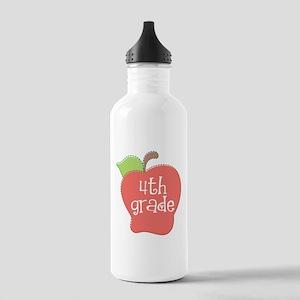 School Apple 4th Grade Stainless Water Bottle 1.0L