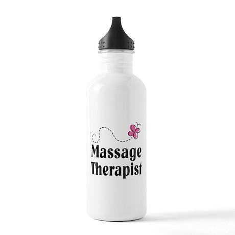 Pretty Massage Therapist Stainless Water Bottle 1.