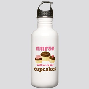 Nurse Gift Cupcakes Stainless Water Bottle 1.0L