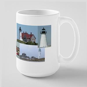 Massachusetts Lighthouses Large Mug