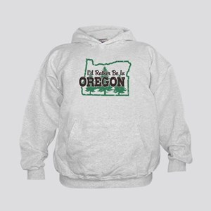 I'd Rather Be In Oregon Kids Hoodie