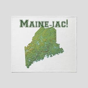 Maine-iac Throw Blanket