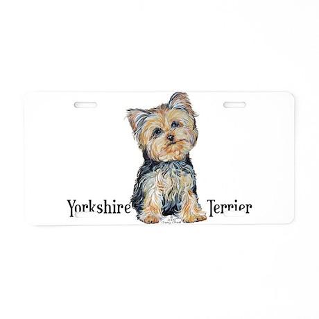 Yorkshire Terrier Cutie Aluminum License Plate