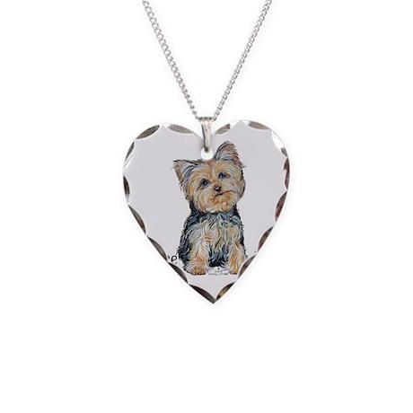 Yorkshire Terrier Cutie Necklace Heart Charm