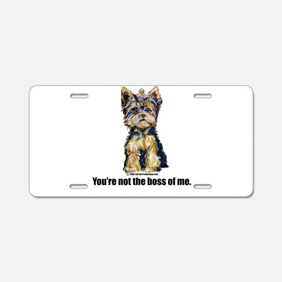 Yorkshire Terrier - Yorkie Bo Aluminum License Pla