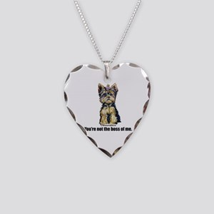 Yorkshire Terrier - Yorkie Bo Necklace Heart Charm