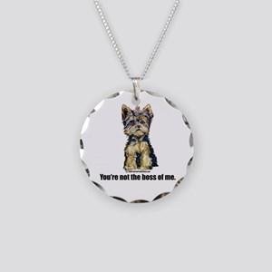 Yorkshire Terrier - Yorkie Bo Necklace Circle Char