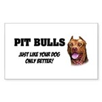 Pit Bulls Sticker (Rectangle 50 pk)