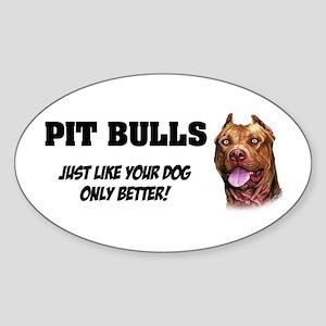 Pit Bulls Sticker (Oval)