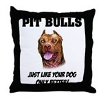 Pit Bulls Throw Pillow