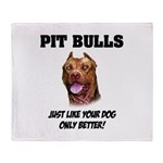 Pit Bulls Throw Blanket