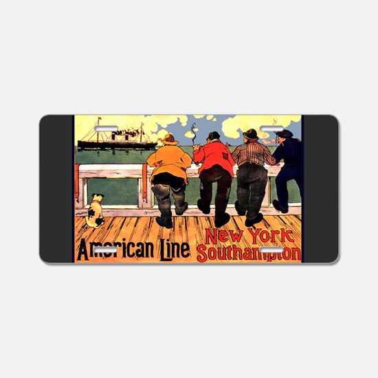 Americam Liners Aluminum License Plate