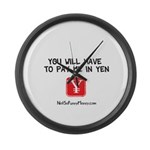 Pay Me In Yen Large Wall Clock