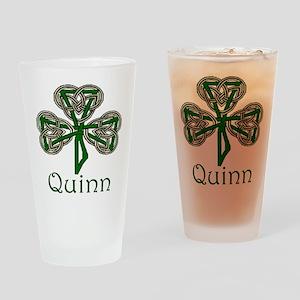 Quinn Shamrock Pint Glass