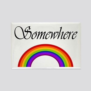 Somewhere Over the Rainbow Rectangle Magnet