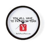 Pay Me In Yuan Wall Clock