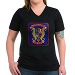 USS CHARLES S. SPERRY Women's V-Neck Dark T-Shirt