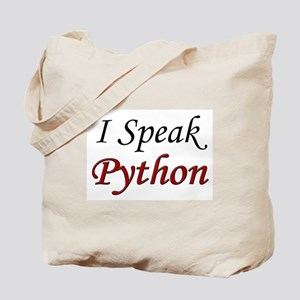 """I Speak Python"" Tote Bag"