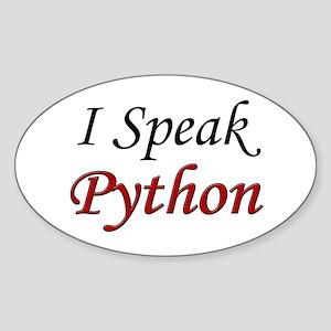 """""""I Speak Python"""" Oval Sticker"""