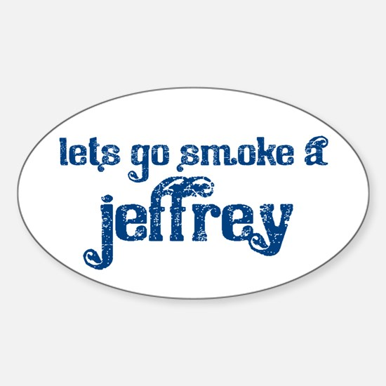 Cute Jeffrey Sticker (Oval)