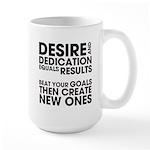 Desire and Dedication Large Mug