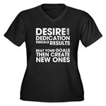 Desire and Dedication Women's Plus Size V-Neck Dar