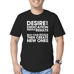 Desire and Dedication Men's Fitted T-Shirt (dark)