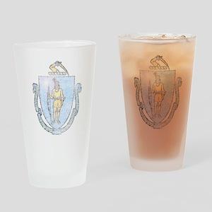 Vintage Massachusetts Pint Glass