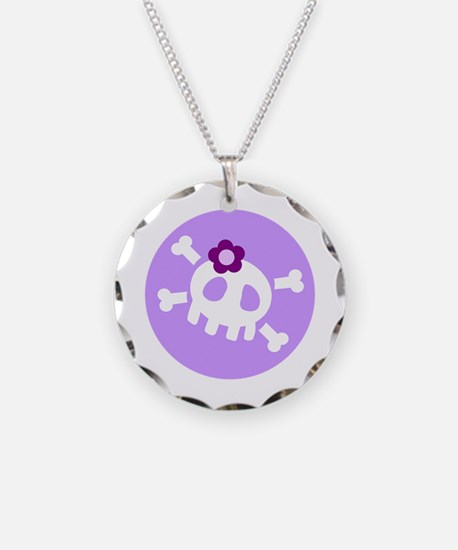Lilac Skull Necklace