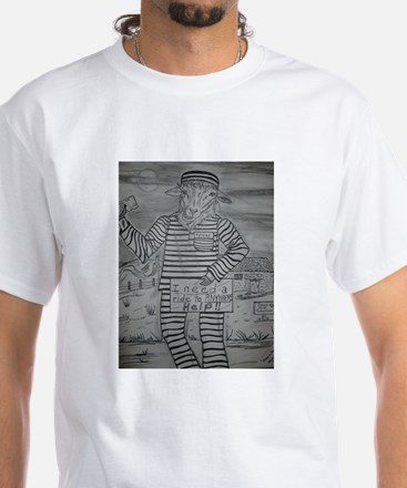 Sheep on the Lam White T-Shirt
