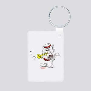 Trumpet Cat: ALL PRODUCTS Aluminum Photo Keychain