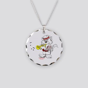 Trumpet Cat: ALL PRODUCTS Necklace Circle Charm