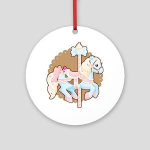 Ice Cream Carousel Ornament (Round)