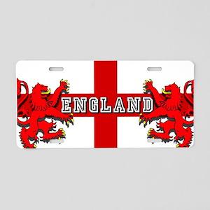 England Lion Flag Aluminum License Plate