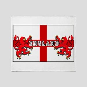 England Lion Flag Throw Blanket