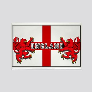 England Lion Flag Rectangle Magnet