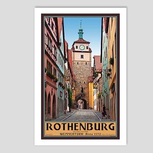 Rothenburg Weisserturm Postcards (Package of 8)