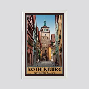 Rothenburg Weisserturm Rectangle Magnet