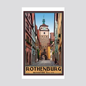 Rothenburg Weisserturm Sticker (Rectangle)