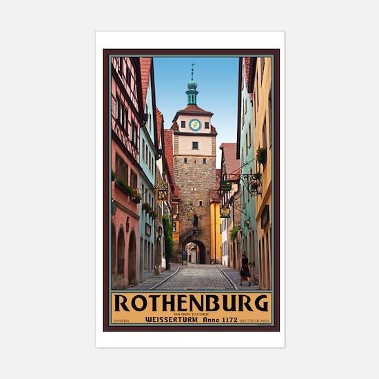 Rothenburg Weisserturm Sticker (Rectangle)