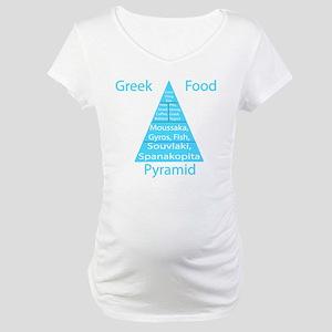 Greek Food Pyramid Maternity T-Shirt